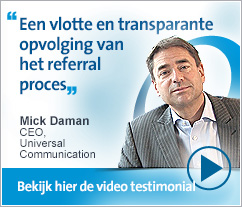 Mick Daman, Universal Communication - Een vlotte en transparante opvolging van het referral proces.