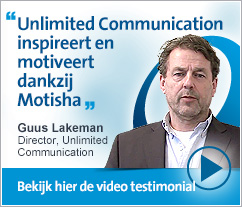 Guus Lakeman, Unlimited Communication - Communicatiebureau Unlimited Communication inspireert en motiveert dankzij Motisha-platform.